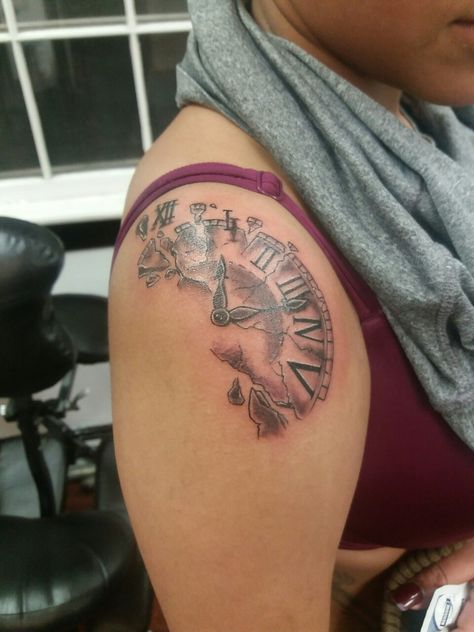 Broken clock done by Jess