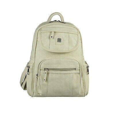DAMEN RUCKSACK Leder Optik Backpack Cityrucksack Schultertasche Freizeit Schule