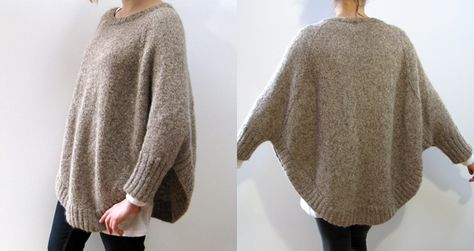 """Nice.  Veronika """"swoncho"""" pattern by CocoKnits - two skeins for a medium, lightly felted"""