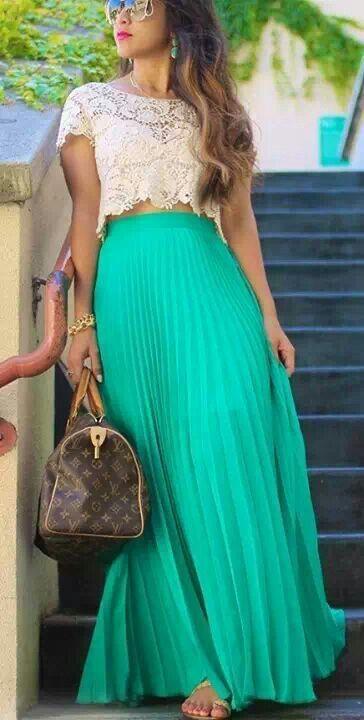 68a1a5041 Hermosa fakda plisada cin blusa encaje guipiur | Things I love ...