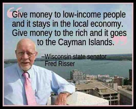 Shop in local stores and the money stays in your community.