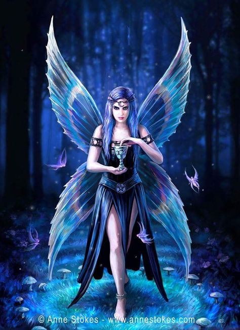 NEW Fantasy Picture Rose Fairy by Anne Stokes 25 cm x 19 cm Gothic Magic Pixies