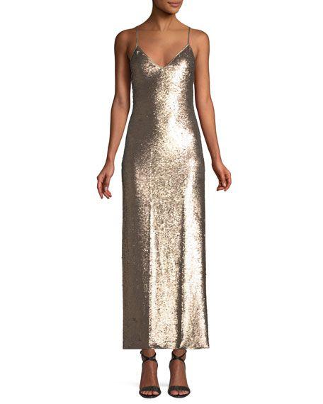 cc76fb654baec Cinq à Sept Emmalyn Sleeveless Sequin Column Dress | FASHION ...