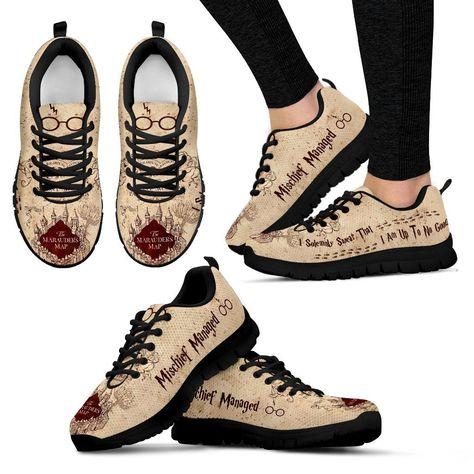 Harry Potter Marauder Women's Running Shoes HP0034 - Women's Sneakers - Black - 1 / US11 (EU42)