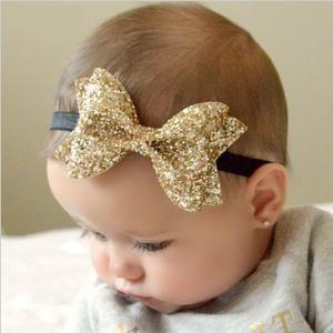Bandeau Bébé Fille Fleur Elastique Noeud Bandeau Cheveux Bandeau