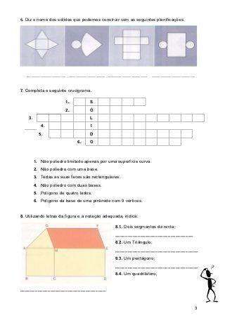 F A Solidos Geometricos 5º Mat Atividades De Geometria 5 Anos