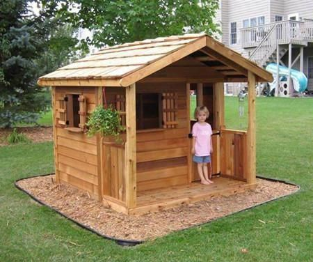 Cedar Playhouse Kits In 2020 Playhouse Outdoor Play Houses Build A Playhouse