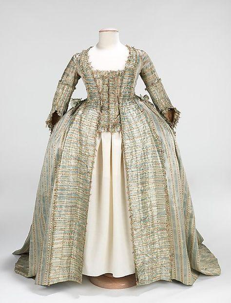 Robe à la Française 1780 The Metropolitan Museum of Art