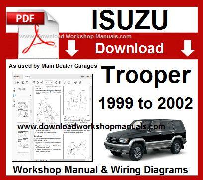 Isuzu Trooper 1999 To 2002 Workshop Manual Download Vehiculos