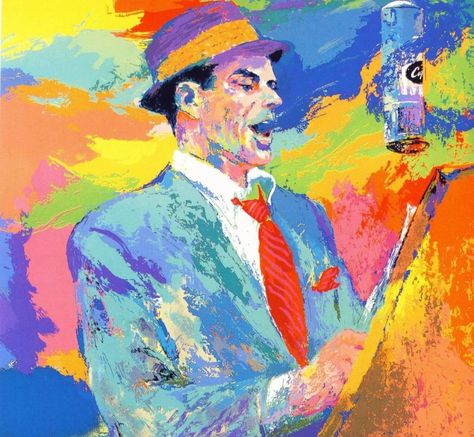Leroy Neiman Frank Sinatra painting framed paintings for sale - küche in polen kaufen