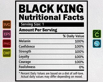 Black Queen Svg Nutritional Facts Svg African American Etsy Clip Art Nutrition Facts Svg