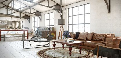 Industrial Chic Living Room Design Ideas - I want to live here in some  super cool location. | Cool house ideas | Pinterest | Chic living room, ...