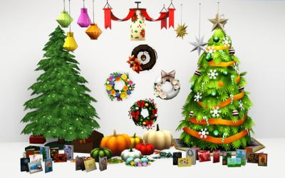 Albero Di Natale The Sims 3.Aroundthesims Around The Sims 3 Sims 4 To 3 Seasonal Decorations Sims 4 Seasons Brought Lots Of Cute Seasonal Decors That Our Sims 3