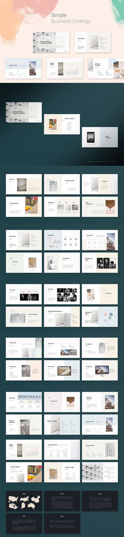 Simple Business Strategy Powerpoint Template