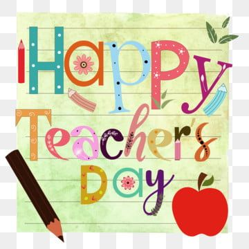 Happy Teacher S Day With Background Watercolor Hand Drawn Happy Teacher S Day Teacher Day School Png And Vector With Transparent Background For Free Download In 2020 Happy Teachers Day Watercolor Background