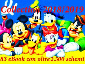 OLTRE 2.500 SCHEMI PUNTO CROCE DISNEY in 83 EBOOK MEGA REGALO CROSS STITCH DMC