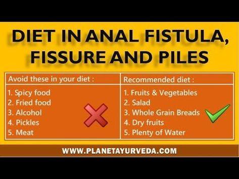 Food for anal bleeding