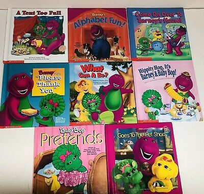Hippity Hop It S Barney Baby Bop Lot Of 8 Barney The Dinosaur Scholastic Hardcover Books From Early 2000s A Tent Hardcover Book Barney The Dinosaurs Books