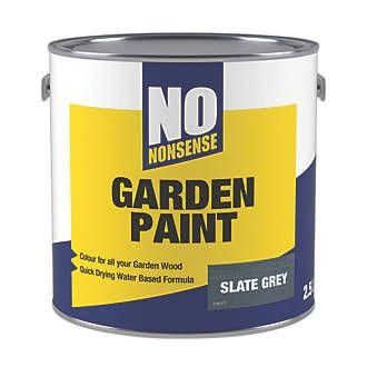 No Nonsense Garden Colour Wood Paint Semi Matt Slate Grey 2 5ltr Staining Deck Wood Deck Stain Stain