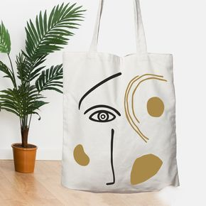 houses canvas tote bag  hand stamped in cotton  fabric reusable shopping bag in natural color with log handles