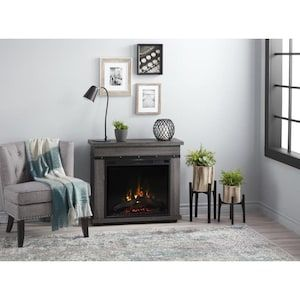 Dimplex 28 5 In W Charcoal Oak Infrared Quartz Electric Fireplace Lowes Com Electric Fireplace Freestanding Fireplace Fireplace
