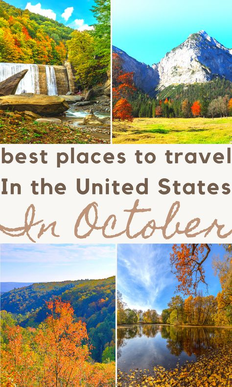 Looking for a great destination in the USA to travel this fall? Check out these amazing USA travel destinations for October. #travel #usa #october