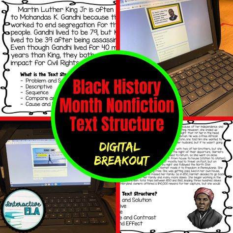 Black History Month Text Structure Breakout