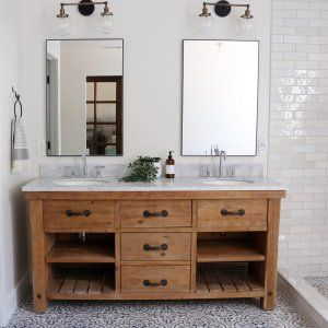 Benchwright 72 Double Sink Vanity Pottery Barn In 2020 Double Sink Vanity Vanity Sink Wood Bathroom Vanity