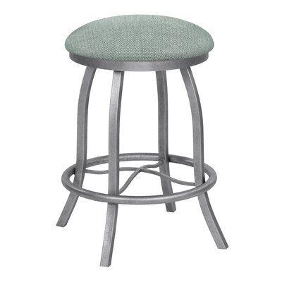 Breakwater Bay Barthel Swivel Bar Counter Stool Upholstery Gray