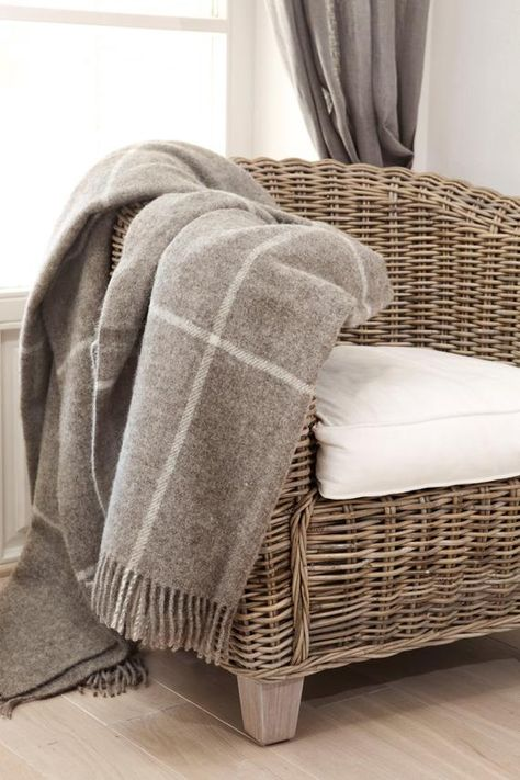 Throws For Sofa Plaid Wool Blanket Luxury