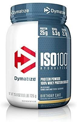 Amazon Com Dymatize Iso 100 Whey Protein Powder Isolate Birthday Cake 1 6 Lbs Health Personal Care Protein Powder 100 Whey Protein Whey Protein