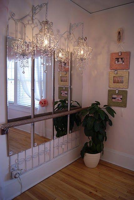MARY KATE'S room decor idea  * ballerina mirrored wall