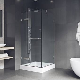 Durastall Square Sliding Shower Enclosure With Base Included