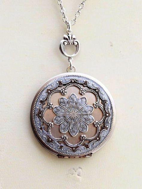 6e375a6dd16e6 Diamond Accent Oval Vintage Locket in Sterling Silver|Zales