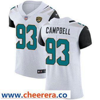 14cf9dcb Men's Nike Jacksonville Jaguars #93 Calais Campbell White Stitched ...