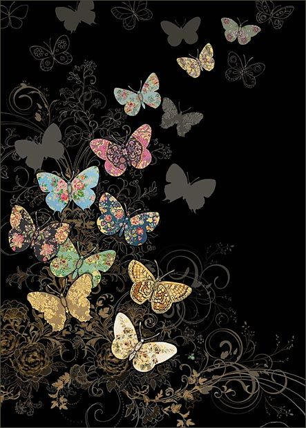 Butterfly Flight - by Jane Crowther, Bug Art