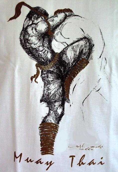 Thai Kick Boxing Artes Marciales Dibujos Estilos De Artes Marciales Arte Tailandes