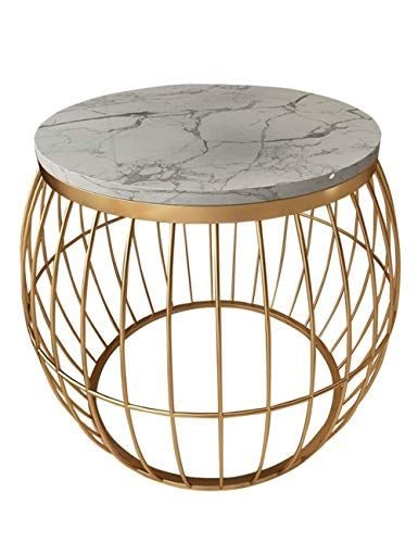 Round Coffee Table Marble Side Table Modern Living Room Small