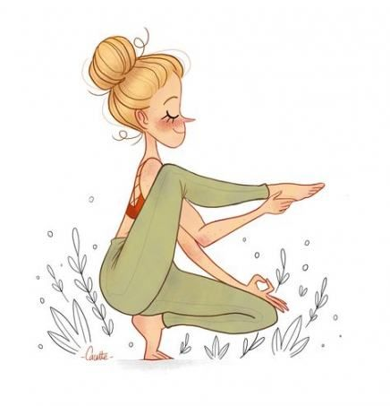 33 Trendy Yoga Posturas Caricatura Yoga Drawing Yoga Illustration Yoga Cartoon