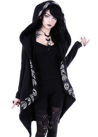 bfb4159ec38bb Restyle All Seeing Moon Gothic Hoodie | Attire | Gothic jackets ...