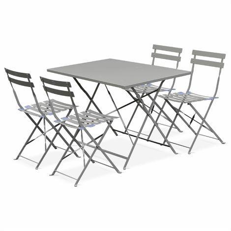 Tavolo 4 Sedie Da Giardino.Tavolo Da Giardino Bar Bistrot Pieghevole Modello Emilia