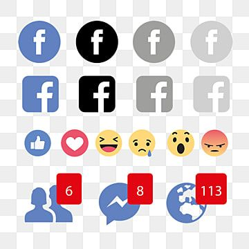 Facebook Reactions Emojis Icon Facebook Icons Facebook Reactions Facebook Png And Vector With Transparent Background For Free Download Facebook Icon Vector Logo Facebook Social Media Icons