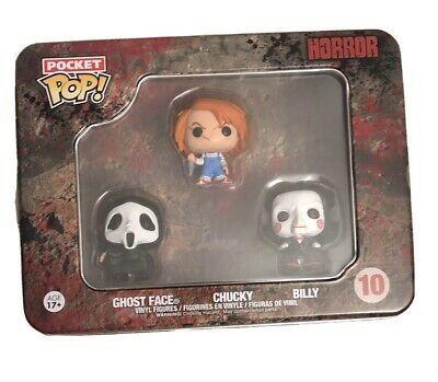 Funko Pocket Pop 2015 Movie Horror Tin: Ghost Face Chucky Vaulted! Billy #10