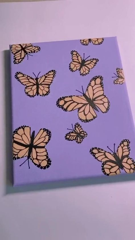 Diy butterfly painting decor! 💕
