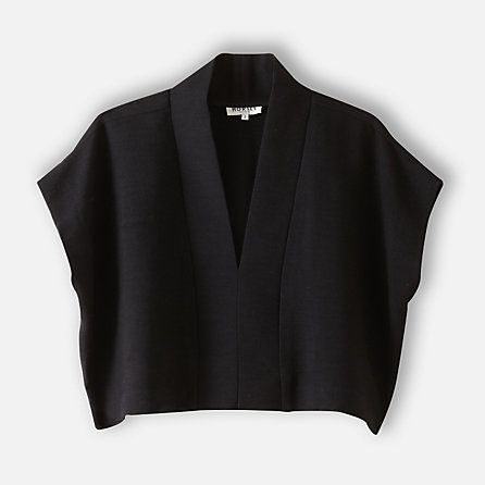 Horses Atelier Cropped Wool Vest - this would be great over a simple shift dress.