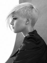 black & white pic, short blonde #haircut #Short Hair Cuts #Blaze Salon #hairstyles