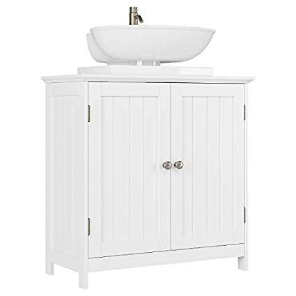 Bathroom Vanity Under Sink Cabinet Space Saver With Double Doors And Adjustable Shelves White Amazon Com With Images Bathroom Vanity Adjustable Shelving Sink Cabinet