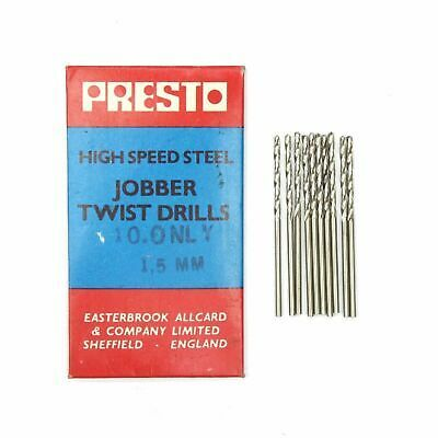 10 Presto 1 32 Hss Jobber Twist Drill Bits For Metal Made In Sheffield England In 2020 Twist Drill Bits Sheffield England Drill Bits