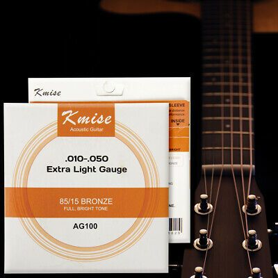 Acoustic Guitar Strings Phosphor Bronze Extra Light Gauge 0 01 0 05 Inch Ag100 729789341004 Ebay In 2020 Acoustic Guitar Guitar Strings Acoustic