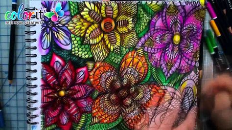 Colorful Flowers Volume 1 By ColorIt Time Lapse Video